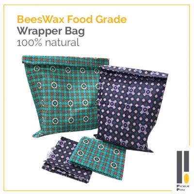 Beeswax Reusable Food Bag_PLF2535 (2pcs in a set)